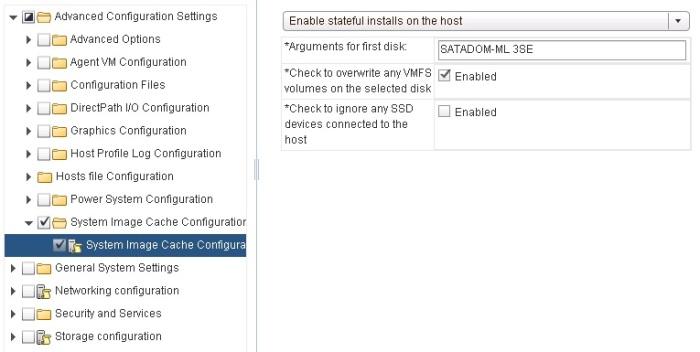 Stateful Install Host Profile